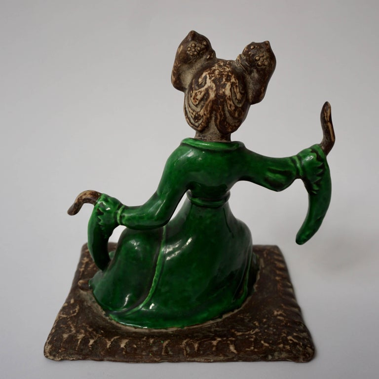 Chinese Court Musician Figurine by Zaccagnini In Excellent Condition For Sale In Antwerp, BE