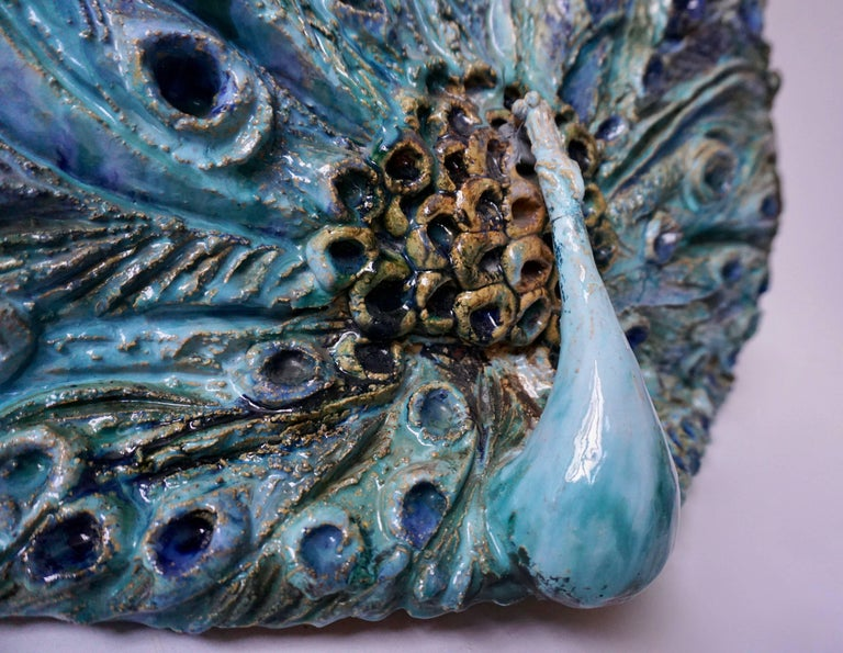 Extraordinary Ceramic Peacock For Sale 4