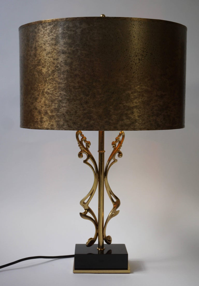 Two Brass Table Lamps In Good Condition For Sale In Antwerp, BE