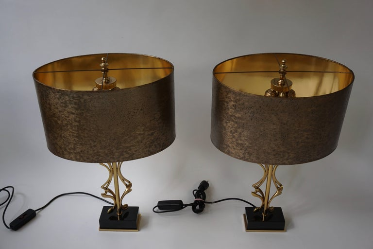 Two Brass Table Lamps For Sale 2