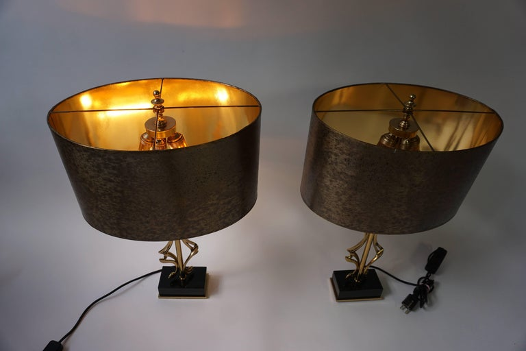 Two Brass Table Lamps For Sale 4