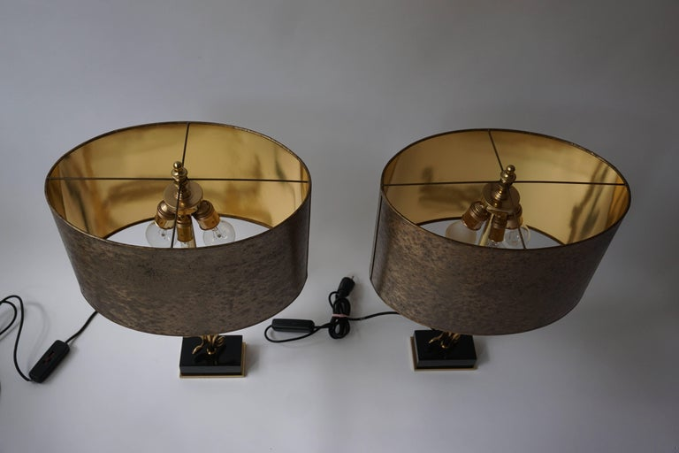 Two Brass Table Lamps For Sale 1