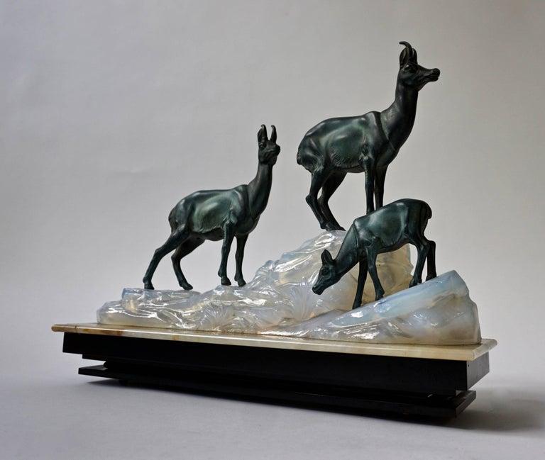 20th Century Art Deco Table Lamp Sculpture For Sale