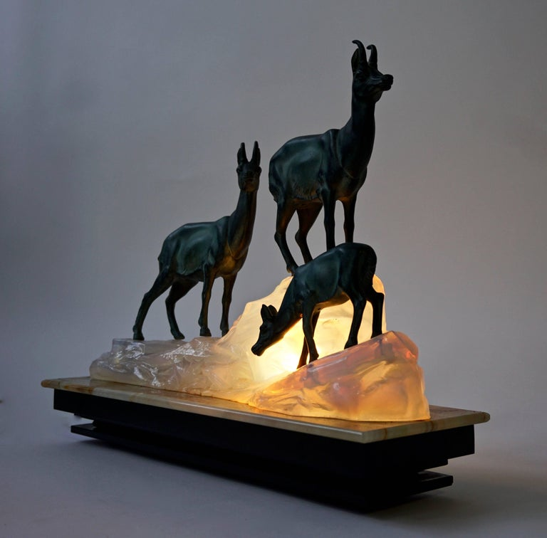 Art Deco Table Lamp Sculpture In Good Condition For Sale In Antwerp, BE