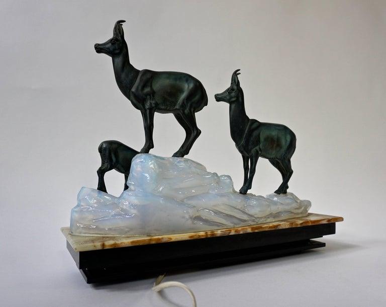 Art Deco Table Lamp Sculpture For Sale 1