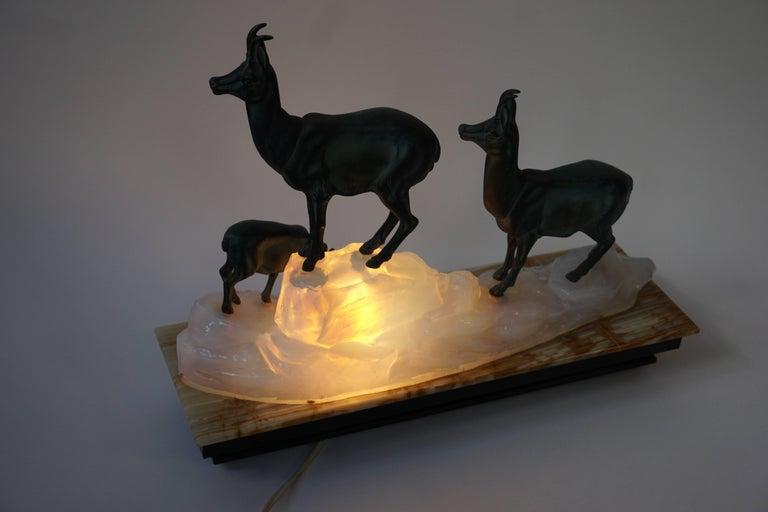 Art Deco Table Lamp Sculpture For Sale 3