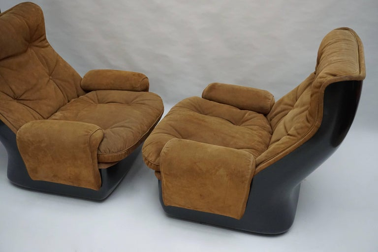 Two Lounge Chairs by Airborne International, circa 1970s In Good Condition For Sale In Antwerp, BE