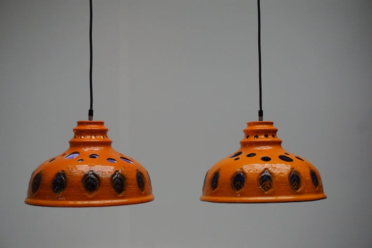Two Ceramic Pendant Lights For Sale 3