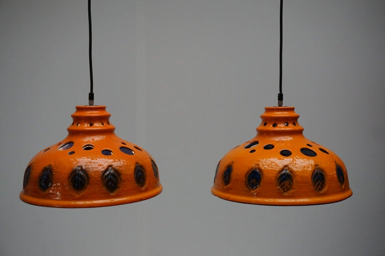 Two Ceramic Pendant Lights For Sale 2