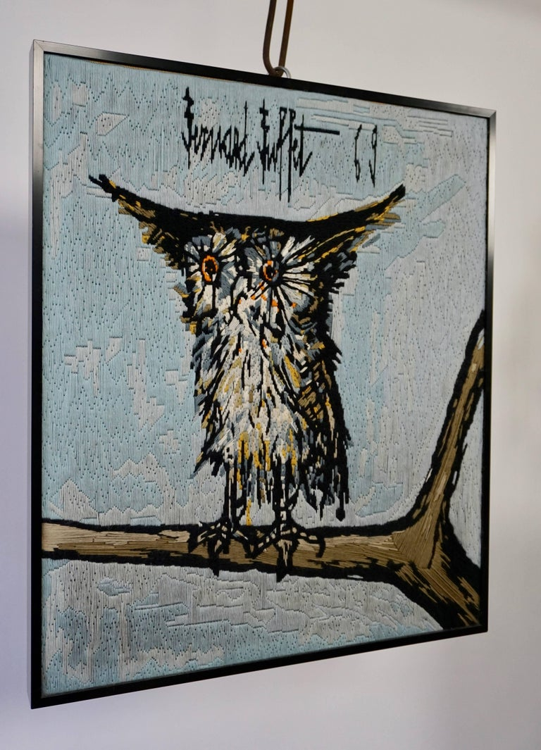 20th Century Bernard Buffet the Owl Tapestry, 1969 For Sale