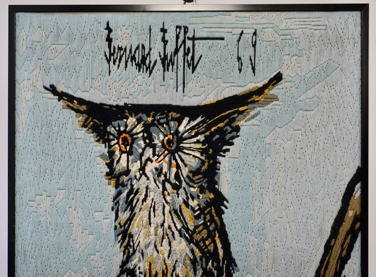 French Bernard Buffet the Owl Tapestry, 1969 For Sale