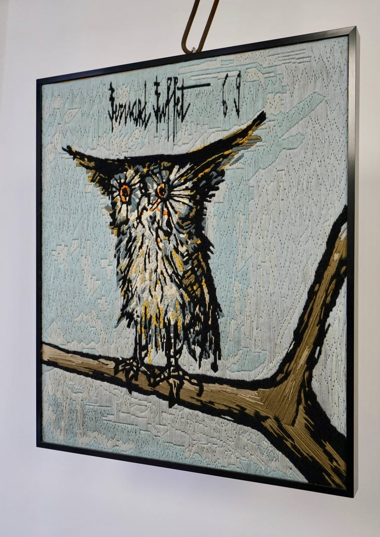 Bernard Buffet the Owl Tapestry, 1969 In Excellent Condition For Sale In Antwerp, BE