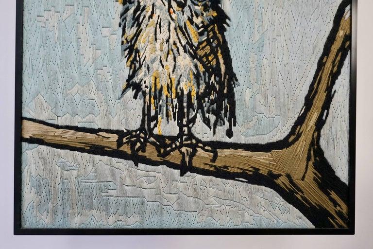Woven Bernard Buffet the Owl Tapestry, 1969 For Sale
