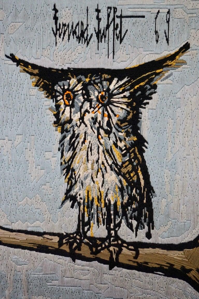 Mid-Century Modern Bernard Buffet the Owl Tapestry, 1969 For Sale