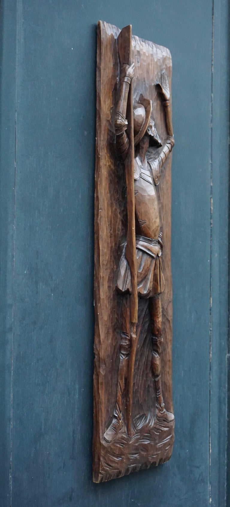 Don Quichotte Wooden Wall Sculpture For Sale 3