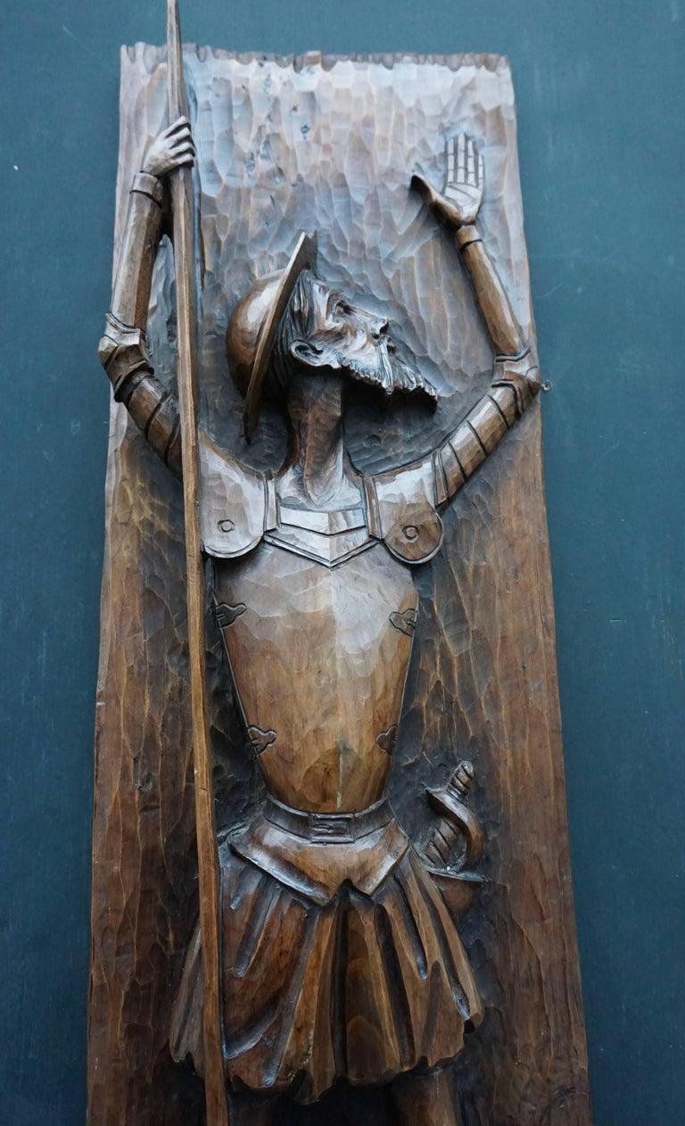 Don Quichotte Wooden Wall Sculpture 6