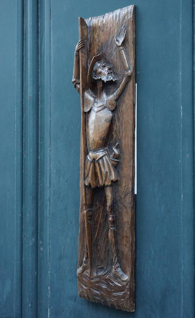 Don Quichotte Wooden Wall Sculpture For Sale 4