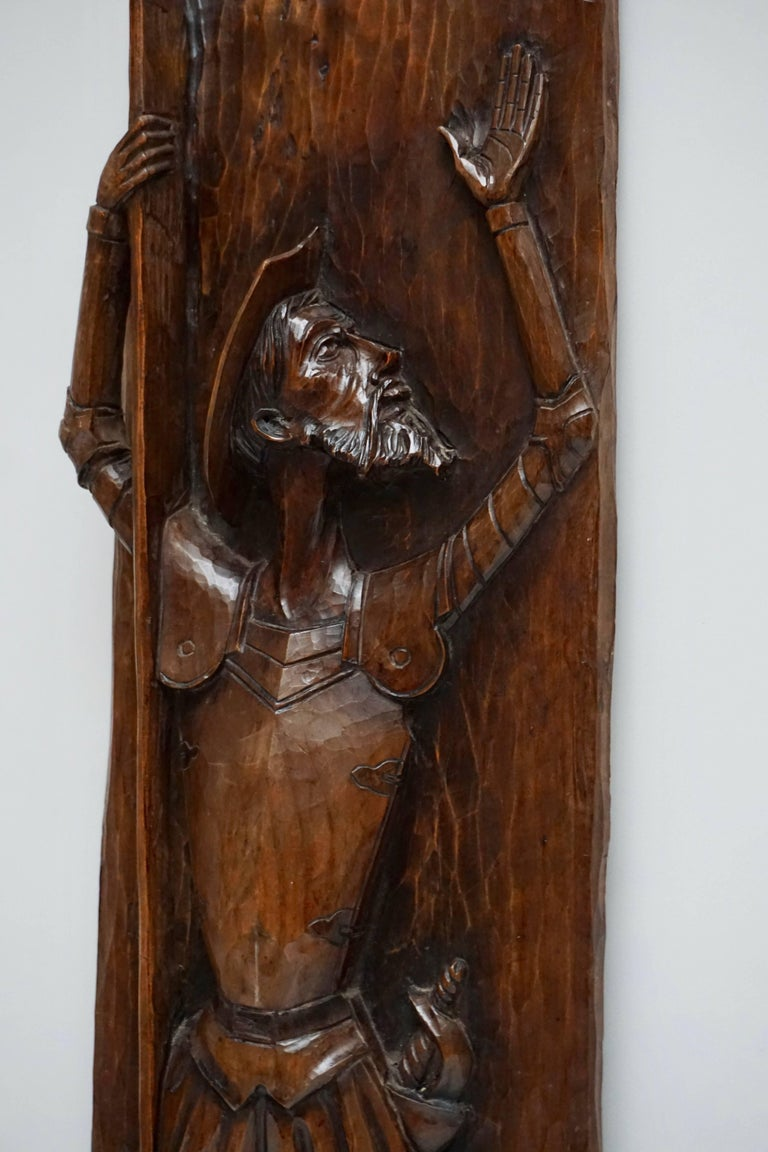 Mid-Century Modern Don Quichotte Wooden Wall Sculpture For Sale