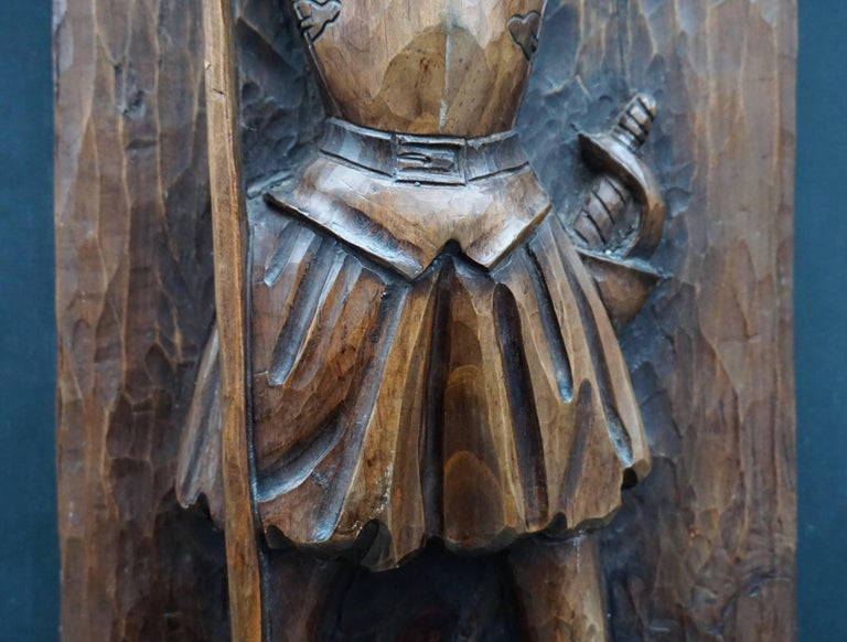 Don Quichotte Wooden Wall Sculpture For Sale 2