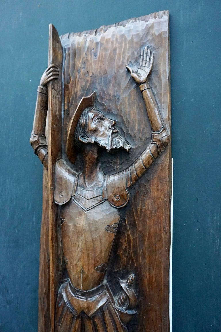 Don Quichotte Wooden Wall Sculpture 5