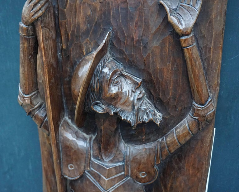 Don Quichotte Wooden Wall Sculpture For Sale 1