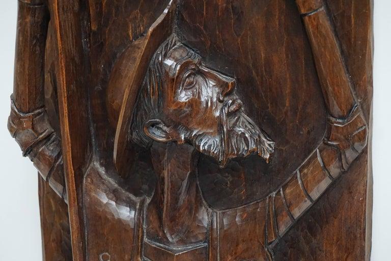 Don Quichotte Wooden Wall Sculpture 2
