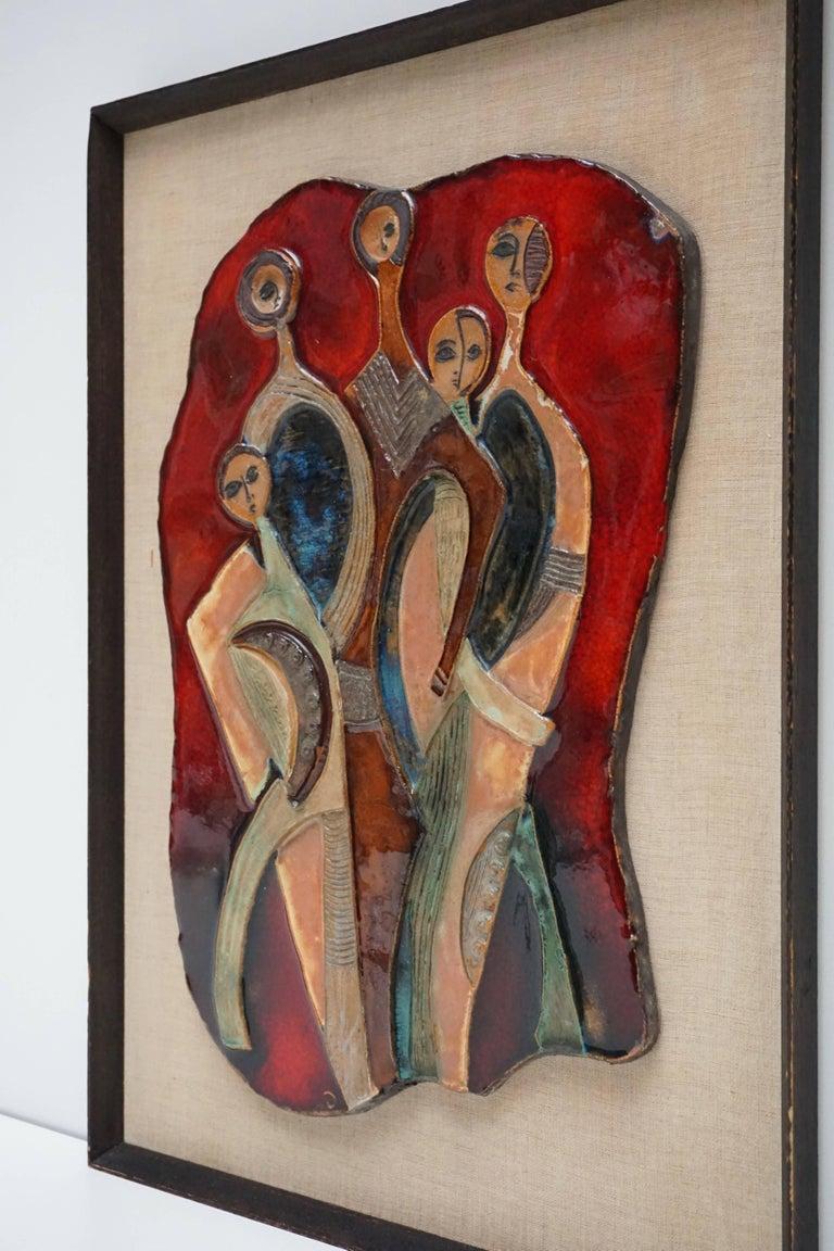 Rare ceramic wall art sculpture. Height:57 cm. Width:41 cm.