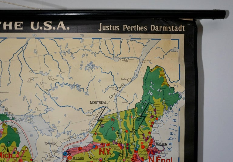 Economy Map of the USA For Sale 2