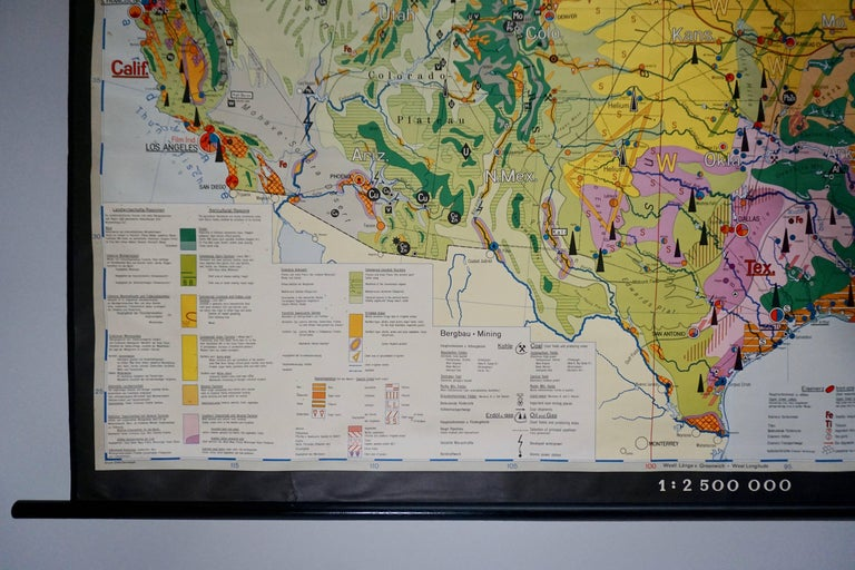 Economy Map of the USA In Good Condition For Sale In Antwerp, BE