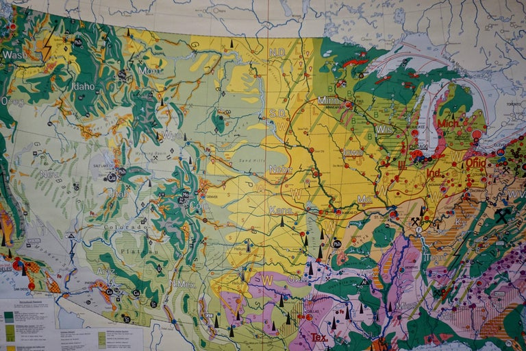 Economy Map of the USA For Sale 1