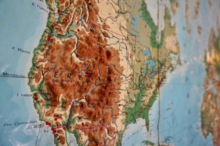 World Relief Map For Sale 1