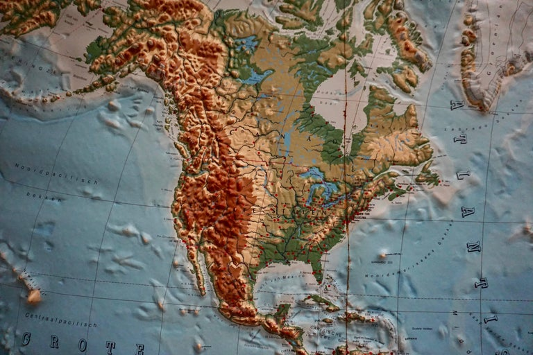 20th Century World Relief Map For Sale