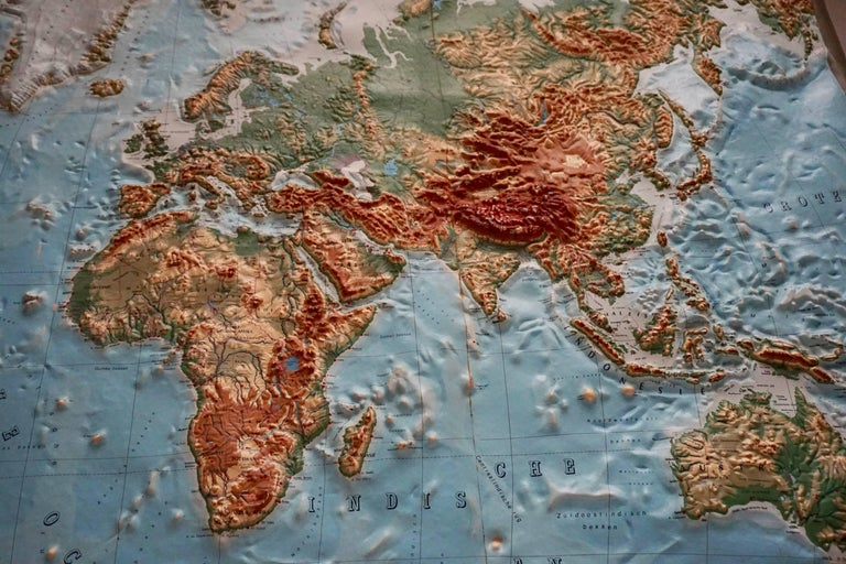 Acrylic World Relief Map For Sale