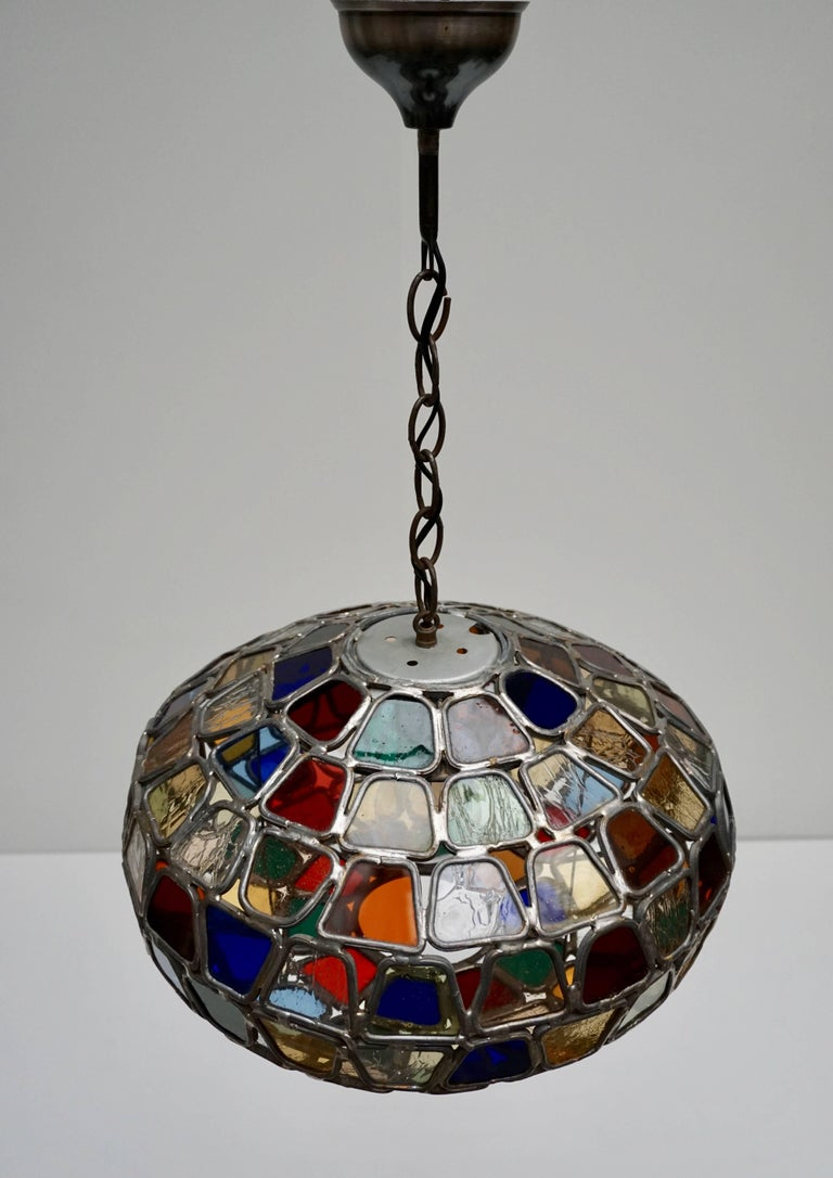 Stained Glass Pendant Light For Sale 2