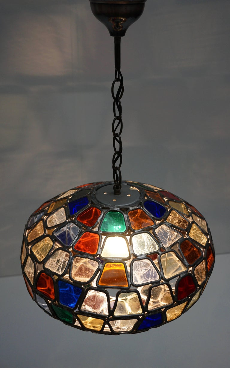 Stained Glass Pendant Light For Sale 3