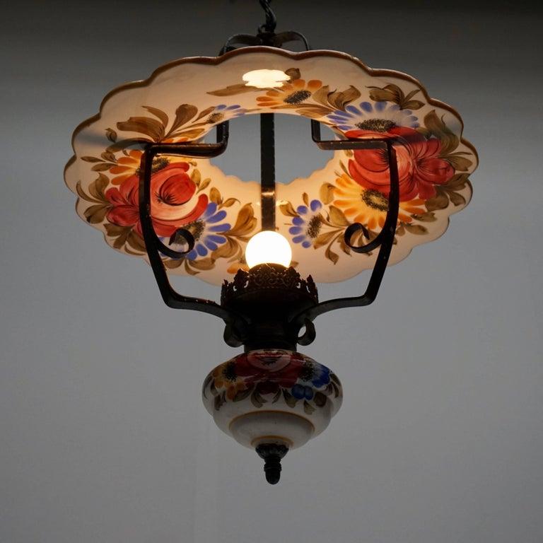 Two Porcelain Pendant Lights For Sale 1