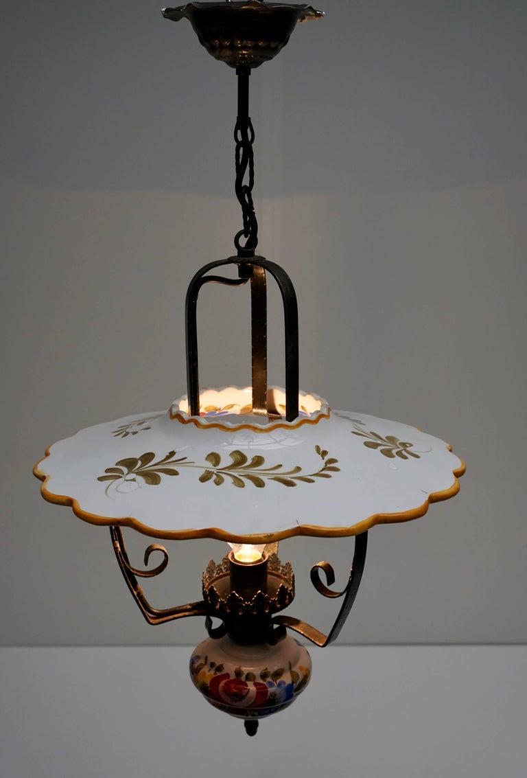 Two Porcelain Pendant Lights For Sale 2