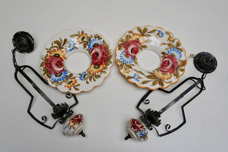 Two Porcelain Pendant Lights For Sale 3