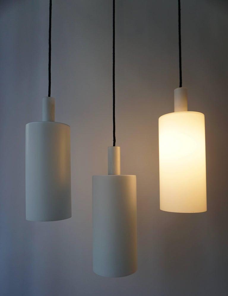 20th Century Three Murano Glass Pendant Lights by Vistosi For Sale