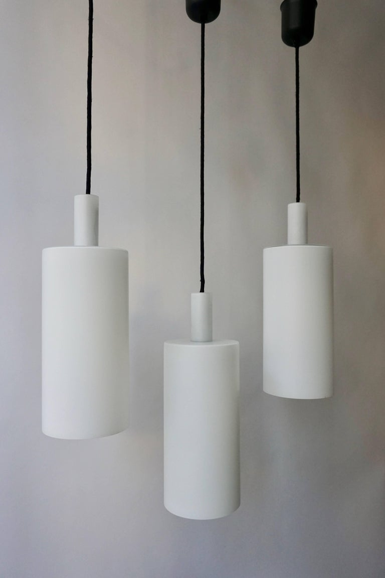 Three Murano Glass Pendant Lights by Vistosi In Good Condition For Sale In Antwerp, BE