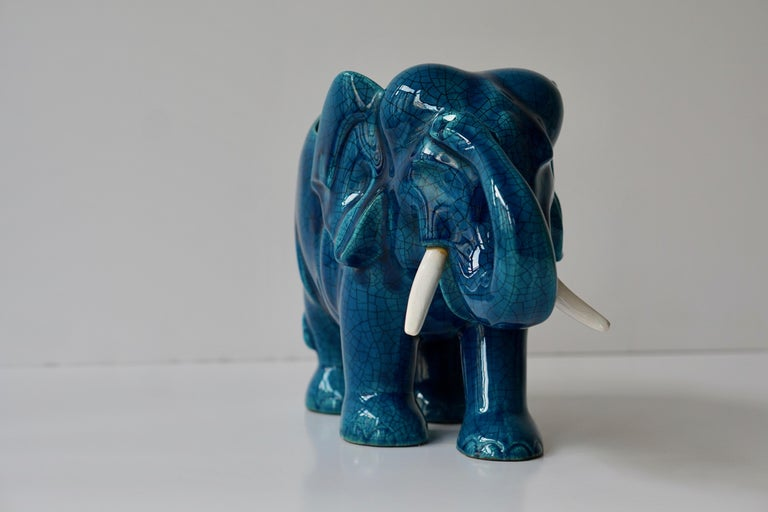 Ceramic Elephant Sculpture For Sale 4