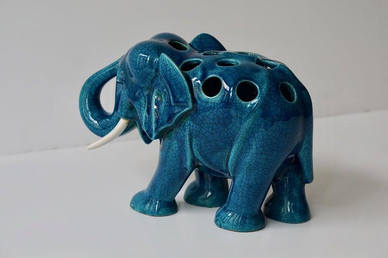 Ceramic Elephant Sculpture For Sale 3