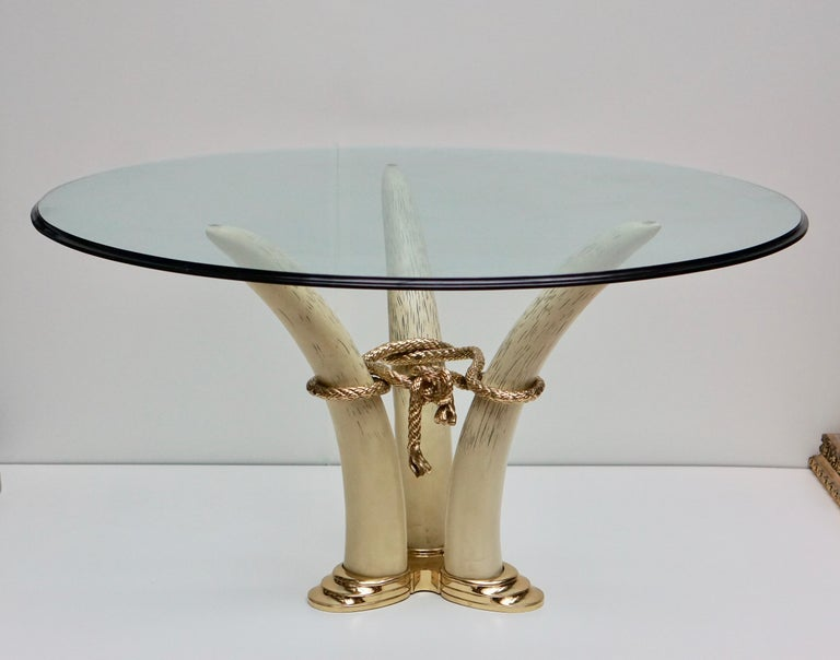 Hollywood Regency Dining Table by Valenti, Barcelona, Spain, circa 1970-1980 For Sale 1