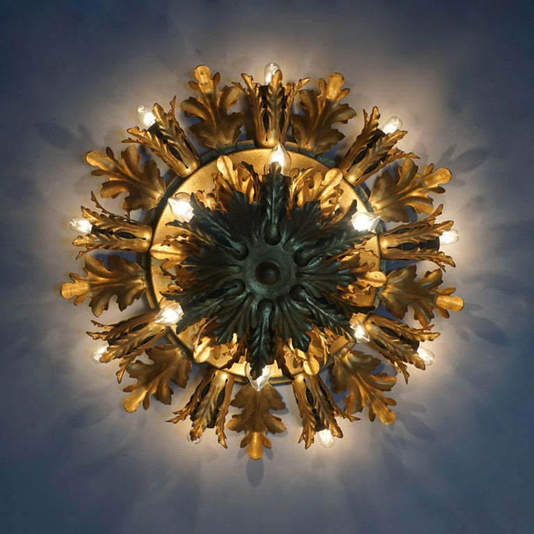 Wall Light or Flush Mount in the Style of Maison Jansen, Charles Bagues 5