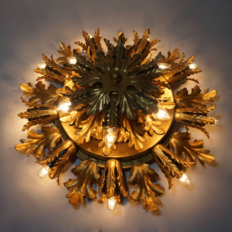 Wall Light or Flush Mount in the Style of Maison Jansen, Charles Bagues 2