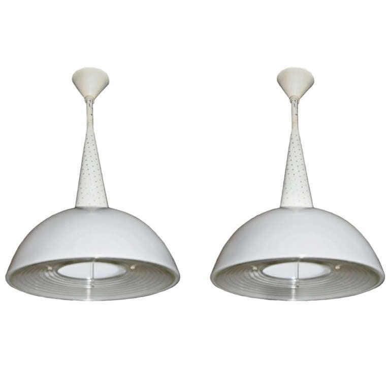 Metal Four Italian Pendant Lights For Sale