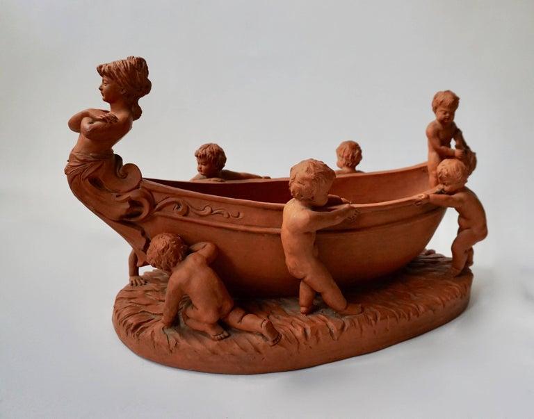 20th Century Terracotta Cherub Bowl For Sale
