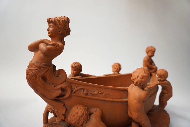 Terracotta Cherub Bowl For Sale 1