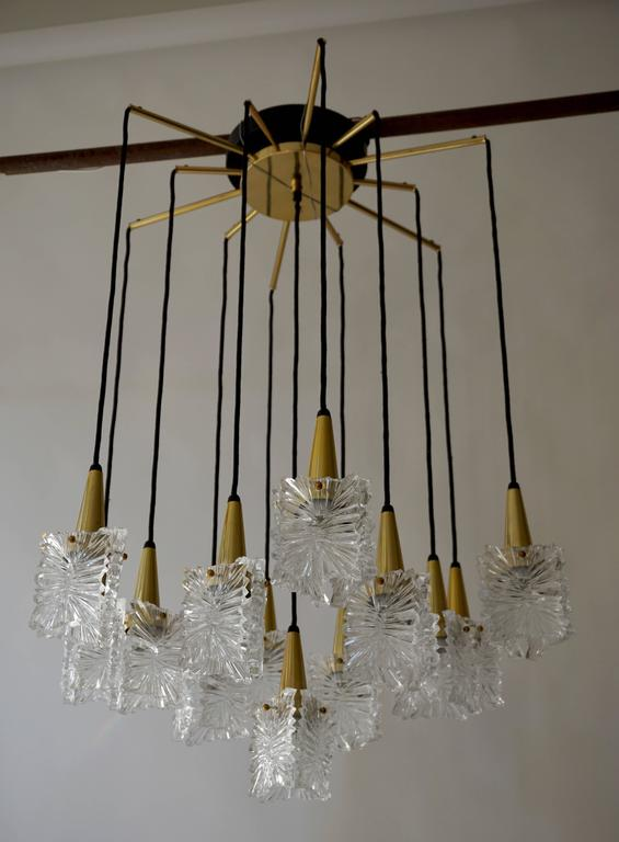 Mid-Century Modern 1970s RAAK Chandelier For Sale
