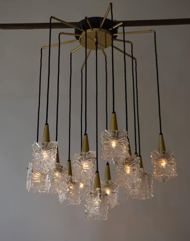 Dutch 1970s RAAK Chandelier For Sale